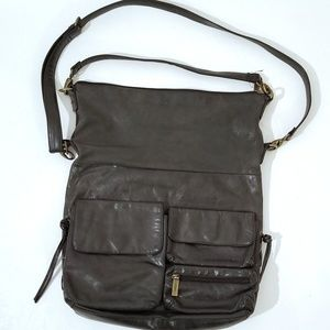 Hobo international explorer bag black leather C8